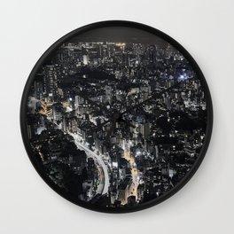 Tokyo by Night, Japan. Wall Clock