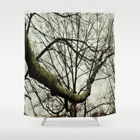 moss Shower Curtains featuring Moss by Riley Gallagher