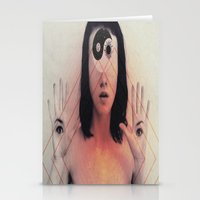 third eye Stationery Cards featuring Third Eye by Isaak_Rodriguez