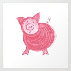 Little Piggy! Art Print