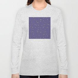 Gold Stars on Purple Night Sky Long Sleeve T-shirt