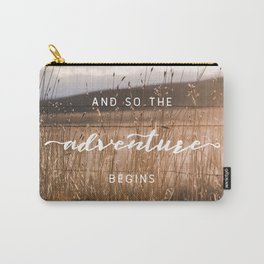 And So The Adventure Begins - Rustic Western Carry-All Pouch