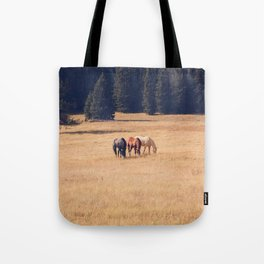 Montana Collection - Horses on the Ranch Tote Bag