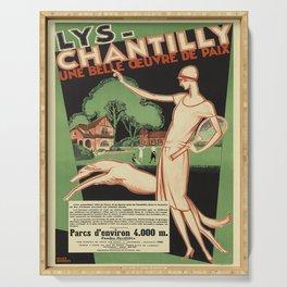 lys - chantilly. circa 1928  oude poster Serving Tray
