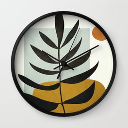 Soft Abstract Large Leaf Wall Clock