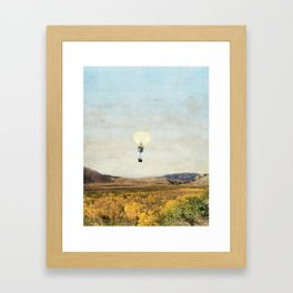 Birds Eye View Of Yellowstone Framed Art Print