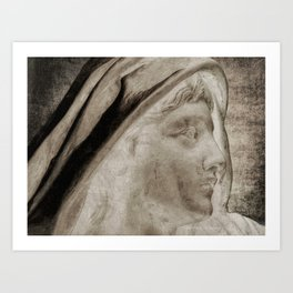 Lady Angel Celestial Woman Spiritual Art A145 Art Print