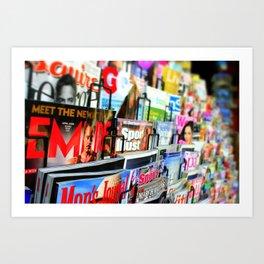 Magazine Stand Art Print