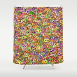 all in a circle   (A7 B0004) Shower Curtain