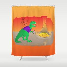 More Dinosaur, Less Meteor Shower Curtain