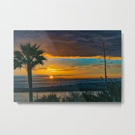 Sunset Framed from Lookout Point Metal Print