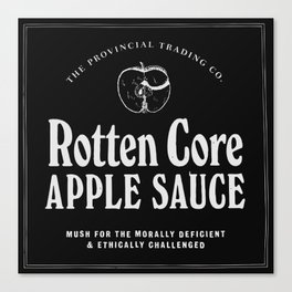 Rotten Core Apple Sauce Canvas Print
