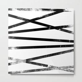 Horizontal Line Pattern Metal Print