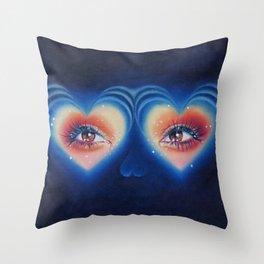 Heart eyes 4 U Throw Pillow