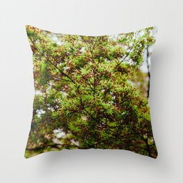 Fresh Japanese Maple Throw Pillow