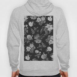 Vintage flowers on black Hoody