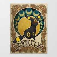 umbreon Canvas Prints featuring Umbreon by Yamilett Pimentel