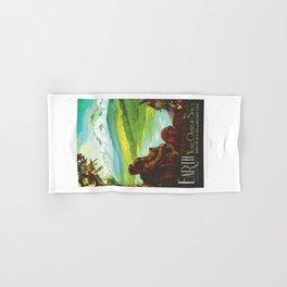 Earth - NASA Space Travel Poster Hand & Bath Towel