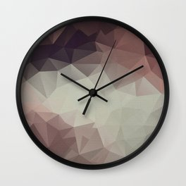 Gray brown abstract polygonal pattern triangles . Wall Clock