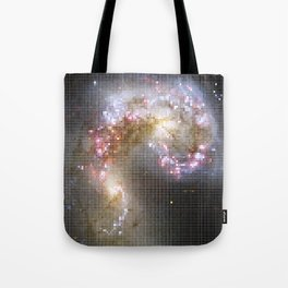 Pixel Nebula Tote Bag