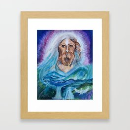 Jesus Painting Portrait Framed Art Print