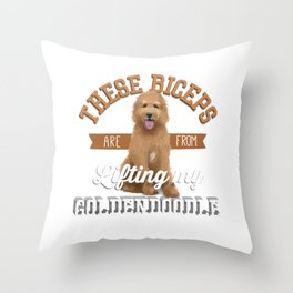 These Biceps Are From Lifting My Goldendoodle Throw Pillow