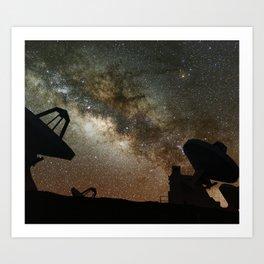Radio Telescopes and Milky Way Art Print