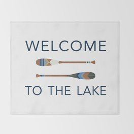 Welcome to the Lake Throw Blanket