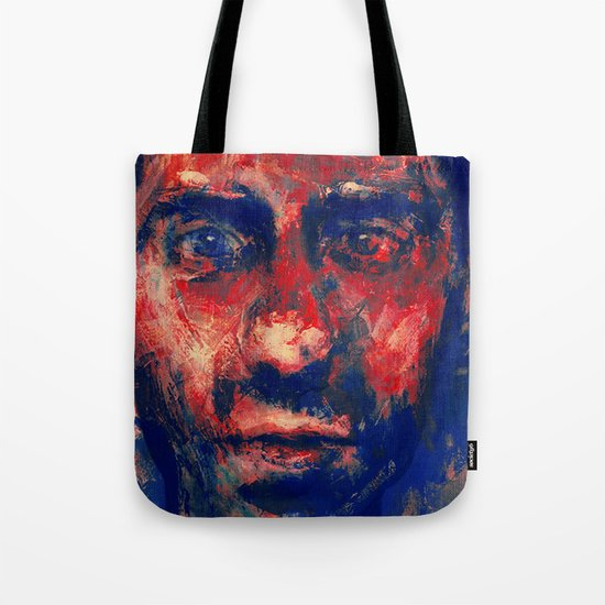 Face in Saturated Color's 4 Tote Bag