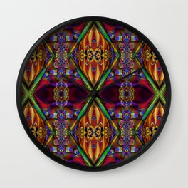 Jeweled Velvet Wall Clock