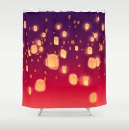 Floating Lanterns Shower Curtain