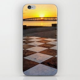 Checkerboard Sunset iPhone Skin