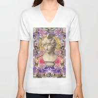 holographic V-neck T-shirts featuring mercury dreams of amethyst olympus by STORMYMADE