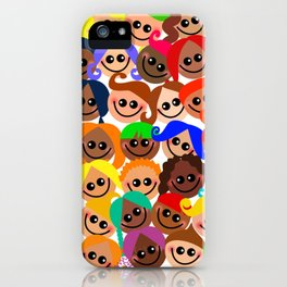 Happy Diverse Children iPhone Case