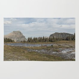 Mt Reynolds and Heavy Runner from Logan Pass Rug
