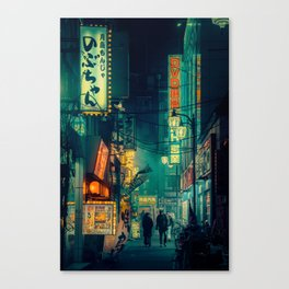 Tokyo Nights / Memories of Green / Blade Runner Vibes / Cyberpunk / Liam Wong Canvas Print