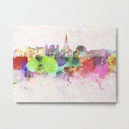 San Jose skyline in watercolor background Metal Print