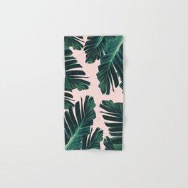 Tropical Blush Banana Leaves Dream #4 #decor #art #society6 Hand & Bath Towel