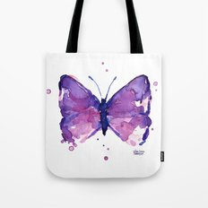 Butterfly Purple Watercolor Animal Tote Bag