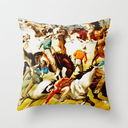 Vintage Wild West Show Poster Throw Pillow