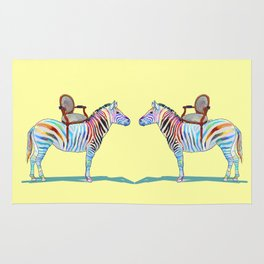 animals with chairs #4 Chair on a Zebra Rug