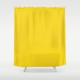 Bold Bright Golden Sunshine Yellow - Plain Solid Block Colors - Banana / Sun / Summer / Sunny / Gold / Cheerful / Primary Colours Shower Curtain