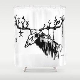 Wendigo by zombiecraig. Shower Curtain