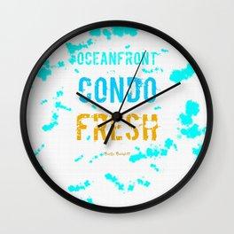 OCEANFRONT CONDO LIFE Wall Clock
