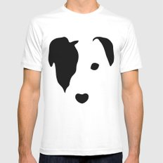 Jack Russell White Mens Fitted Tee LARGE
