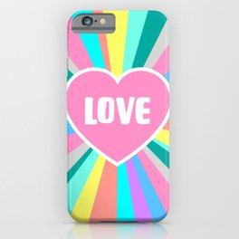 Love Colour Burst iPhone Case