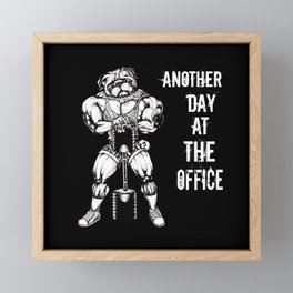 Another day at the office Framed Mini Art Print