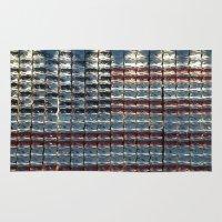 flag Area & Throw Rugs featuring Flag by Lloyd Presbury