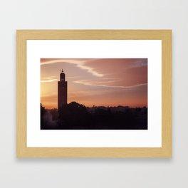 Marrakech skyline Framed Art Print