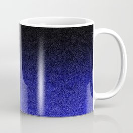 Blue & Black Glitter Gradient Coffee Mug